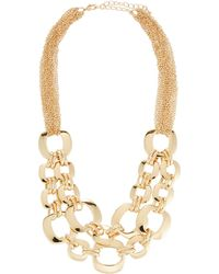 Neiman Marcus - Interlocking Chain & Cutout Link Necklace - Lyst