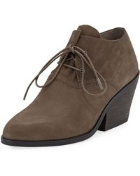 a31fbd6b26c7 Eileen Fisher Iman Suede Ankle Boots in Black - Lyst