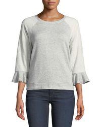 5e64ecd726534 Bobeau - Martha Ruffle-sleeve Sweatshirt - Lyst