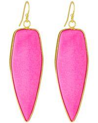 Panacea - Linear Stone Drop Earrings - Lyst