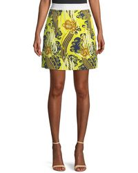 Roberto Cavalli | Abstract-print Mini Skirt | Lyst