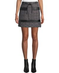 Laundry by Shelli Segal - Boucle Tweed Straight Skirt - Lyst