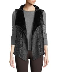 NYDJ - Coated Faux-fur Vest - Lyst