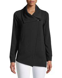 Kensie - Asymmetric-zip Crepe Jacket - Lyst