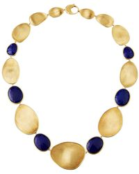 Marco Bicego - Lunaria Lapis Alternating Station Necklace - Lyst