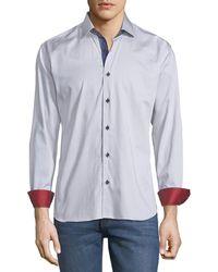 028fa24ea0d Lyst - Calvin Klein White Label Slim Fit Micro Cross Check Cotton ...