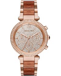 MICHAEL Michael Kors - 39mm Crystal Parker Bracelet Watch - Lyst