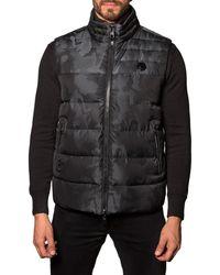 Jared Lang - Aspen 2b Camo Puffer Vest Black - Lyst