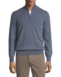 Brunello Cucinelli - Men's Cashmere Zipneck Sweater - Lyst