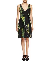 Proenza Schouler - Sleeveless Floral-print Sheath Dress - Lyst