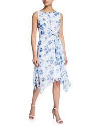 Karl Lagerfeld - Floral-print Asymmetrical Dress - Lyst