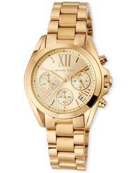 b58b9eb6dd97 MICHAEL Michael Kors - Bradshaw 36mm Chronograph Bracelet Watch Gold - Lyst