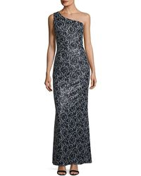 Karl Lagerfeld - Sequined One-shoulder Gown - Lyst