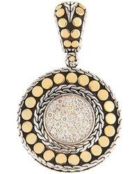 John Hardy - Dot Round Diamond Pendant - Lyst