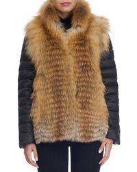 Gorski - Red Fox Fur Down Jacket - Lyst