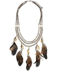 Nakamol - Triple-strand Feather Charm Necklace - Lyst