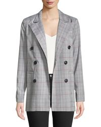 English Factory - Double-breasted Plaid Suit Jacket - Lyst