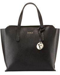 Furla - Sally Small Coated Saffiano Leather Tote Bag - Lyst