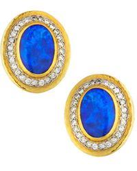Gurhan - 24k One-of-a-kind Opal & Diamond Stud Earrings - Lyst