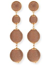 Lydell NYC - Thread-wrapped Ball Drop Earrings - Lyst
