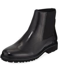 Zanzara - Black Leather Riviere Chelsea Boots - Lyst