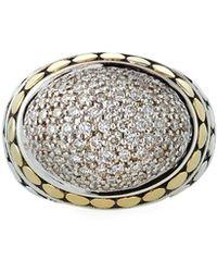 John Hardy - Dot Domed Diamond Ring W/ 18k Gold Size 7 - Lyst