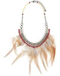 Nakamol - Feather Bib Statement Necklace - Lyst