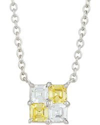 Fantasia by Deserio | Asscher-cut Crystal Pendant Necklace | Lyst