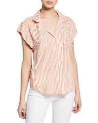 Velvet Heart - Jenna Striped Button-down Shirt - Lyst
