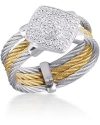Alor - Classique Diamond 18k Gold Stainless Steel Ring - Lyst