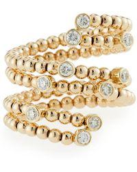 Neiman Marcus - 14k Fancy Diamond Bezel Wrap Ring Size 7 - Lyst