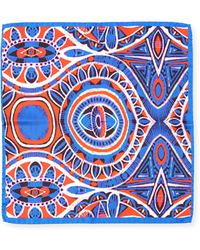 Bugatchi - Geometric Silk Pocket Square - Lyst