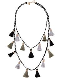 Panacea | Long Double-row Tassel Statement Necklace | Lyst