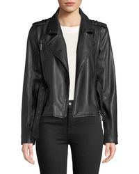Nicole Miller - Vegan Ruffle Moto Jacket - Lyst
