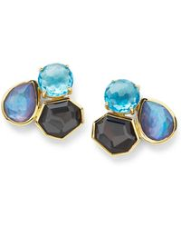 Ippolita - 18k Rock Candy® Cluster Stud Earrings In Midnight Rain - Lyst