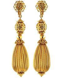 Jose & Maria Barrera - Filigree & Fluted Teardrop Earrings - Lyst