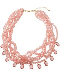 Lydell NYC - Multi-strand Torsade Bead Necklace - Lyst