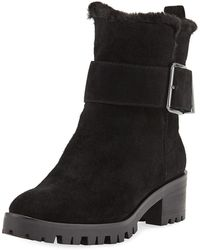 7ba0f9f887f Lyst - Karl Lagerfeld Ivonne Leather Ankle Boots in Black