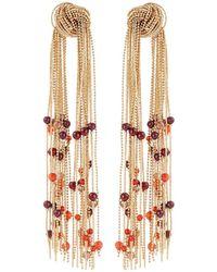 Lydell NYC - Double Tassel Earrings - Lyst