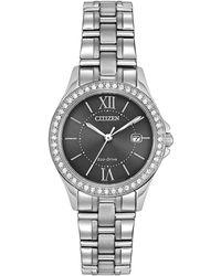Citizen - 28mm Bracelet Watch W/ Crystal Bezel - Lyst