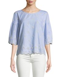 Sanctuary - Viola Embroidered Eyelet Cotton Blouse - Lyst