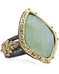 Armenta - Old World Carved Kite Doublet Ring W/ Mixed Diamonds - Lyst
