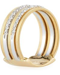 Marco Bicego - Goa 18k Gold Five-row Double Pave Diamond Ring - Lyst