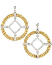 Alor | Classique Pave Diamond Circle Drop Earrings | Lyst