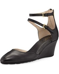 d789c7e4fba Cole Haan - Maddie Leather Ankle-strap Wedges - Lyst