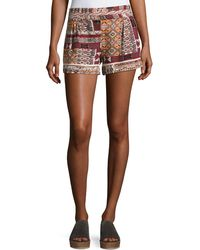 Bishop + Young - Desert Printed Pull-on Shorts - Lyst
