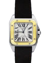 Cartier - Pre-owned 33mm Two-tone Square Watch - Lyst