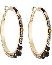 Nakamol - Crystal Beaded Hoop Earrings - Lyst