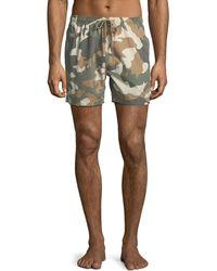 Wesc - Zack Camo Swim Shorts - Lyst