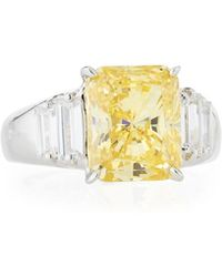 Fantasia by Deserio - Three-stone Cubic Zirconia Ring - Lyst